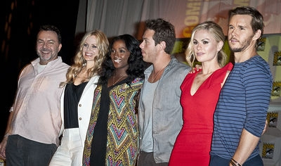 Producer Alan Ball and actors Kristen Bauer, Rutina Wesley, Kevin Alejandro, Anna Paquin and Ryan Kwanten