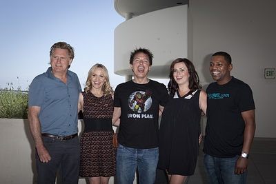 Bill Pullman, Alexa Havins, John Barrowman, Eve Myles and Mekhi Phifer at Comic Con TORCHWOOD Planel