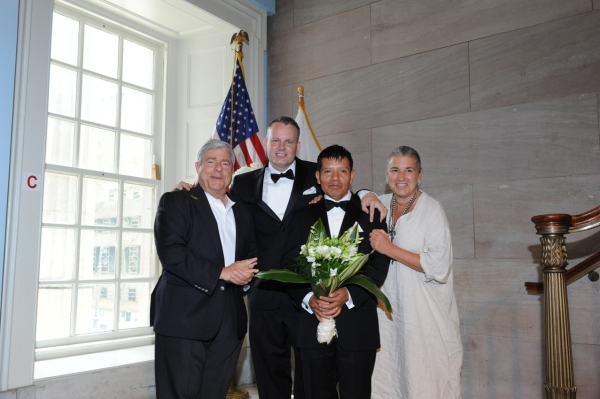 BP Markowitz, spouses John Torres-Rojas and Eufemio Torres-Rojas of East Williamsburg, Jamie Markowitz
