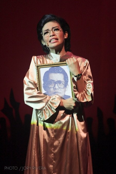 Cindy Liper at A New Musical on Cory Aquino Tours Northern Philippines
