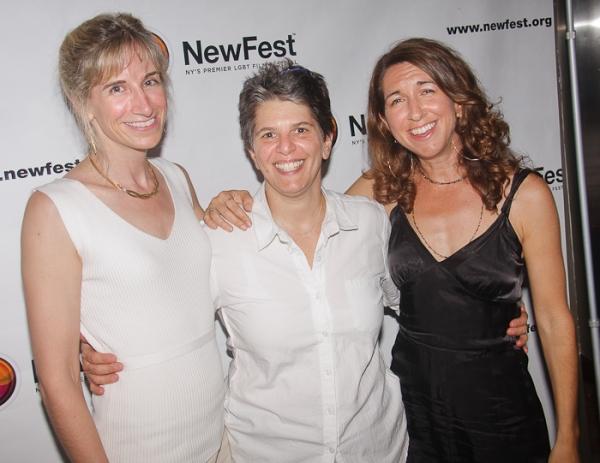 Elisabeth Sperling, Leslie Klainberg and Trish Dalton  at Cheyenne Jackson, Mandy Gonzalez, et al. at ONE NIGHT STAND Premiere