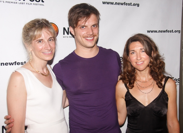 Elisabeth Sperling, Bryce Renninger and Trish Dalton at Cheyenne Jackson, Mandy Gonzalez, et al. at ONE NIGHT STAND Premiere