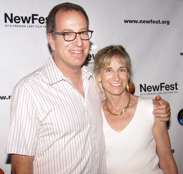 Ted Sperling and Elisabeth Sperling at Cheyenne Jackson, Mandy Gonzalez, et al. at ONE NIGHT STAND Premiere