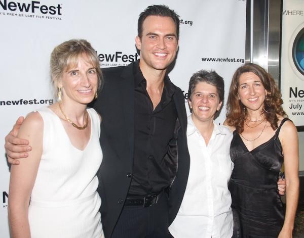 Elisabeth Sperling, Cheyenne Jackson,Leslie Klainberg and Trish Dalton