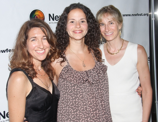 Trish Dalton, Mandy Gonzalez, and Elisabeth Sperling at Cheyenne Jackson, Mandy Gonzalez, et al. at ONE NIGHT STAND Premiere