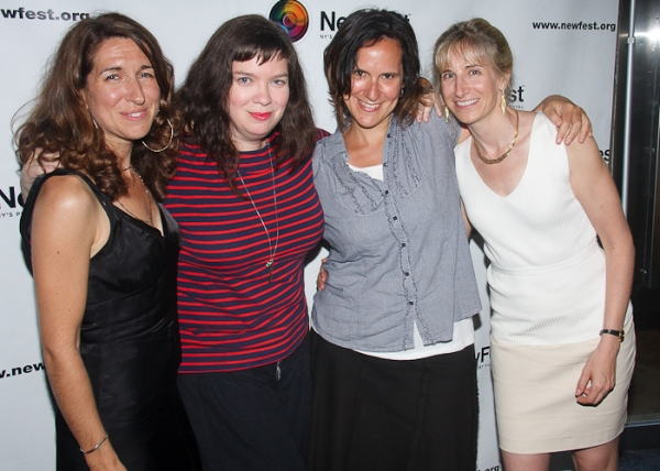 Trish Dalton, Robin Goldwasser, Julia Greenberg, and Elisabeth Sperling at Cheyenne Jackson, Mandy Gonzalez, et al. at ONE NIGHT STAND Premiere