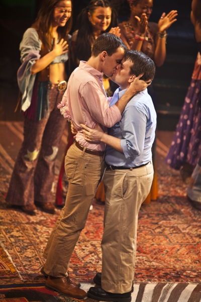 Jared Pike and John Raymond Baker's first kiss as LEGAL Husbands
