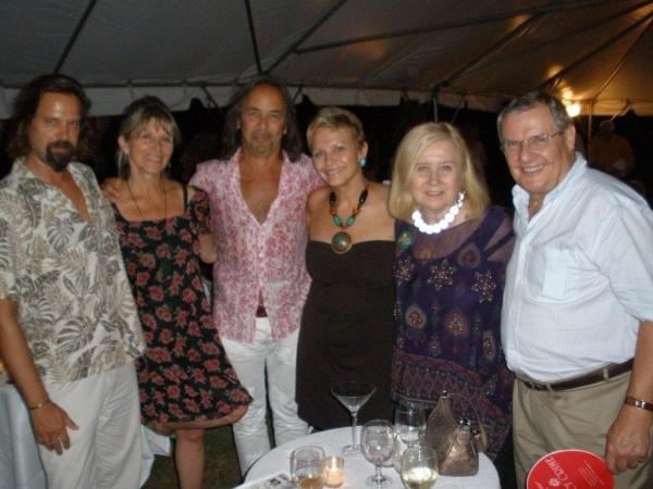 Jono Gero, Barbara Ligeti, Stephen Machat, Christine De Lisle, Pat Addiss, Bill Suter at The Development Wing Hosts Broadway Under the Stars