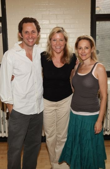Todd Weeks, Mary McCann, Kate Blumberg at In Rehearsal with ATC's BLUEBIRD