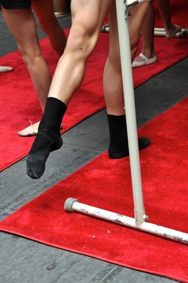 Photos: BILLY ELLIOT Celebrates National Dance Day with Sidewalk Warmup