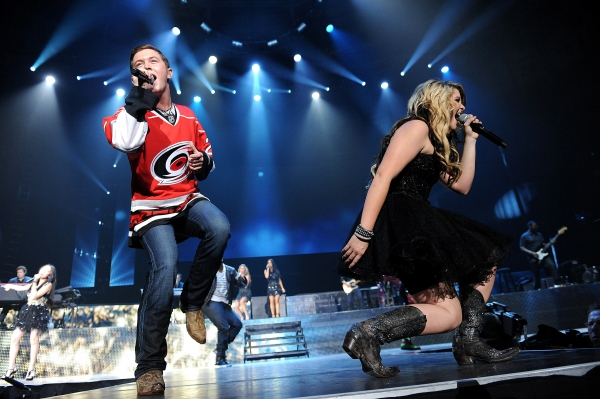 Scotty McCreery and Lauren Alaina at AMERICAN IDOL Tour Hits Raleigh