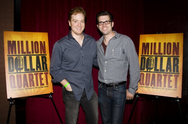 David Abeles & Robert Britton Lyons, at MILLION DOLLAR QUARTET Re-opens at New World Stages