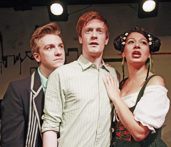 Steven Webb, Benedict Salter and Ashleigh Gray
