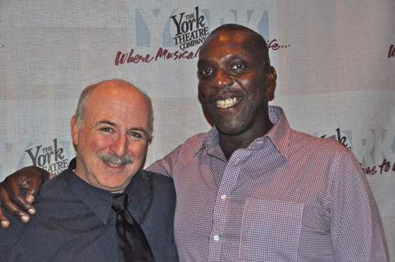 Geoff Cohen (Managing Director of The York Theatre) and Gerry McIntyre Photo