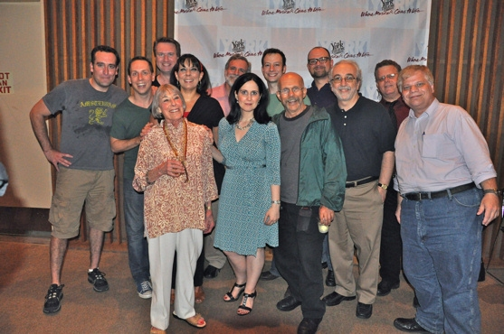 Chris Hoch, Matt Castle, Stephanie D'Abruzzo, Steven Strafford, Tally Sessions, Christine Pedi and Carl Andress are joined by Mary Rodgers and staff members of Mad Magazine at The Mad Show at The York Theatre