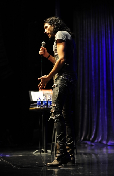 July 28, 2011. Comedian/Russell Brand performed a live show at the Chumash Casino Res Photo