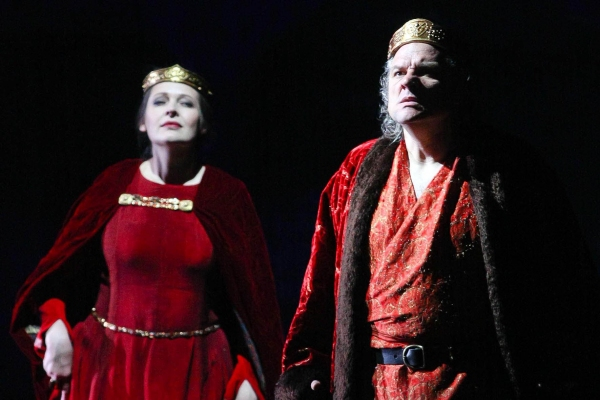 July 30, 2011 - Salzburg, Austria - TATIANA SERJAN as Lady Macbeth, ZELJKO LUCIC as Macbeth perform during the rehearsal for the Macbeth opera at Salzburg Festival 2011.(Credit Image: © PPS Vienna/ZUMAPRESS.com)