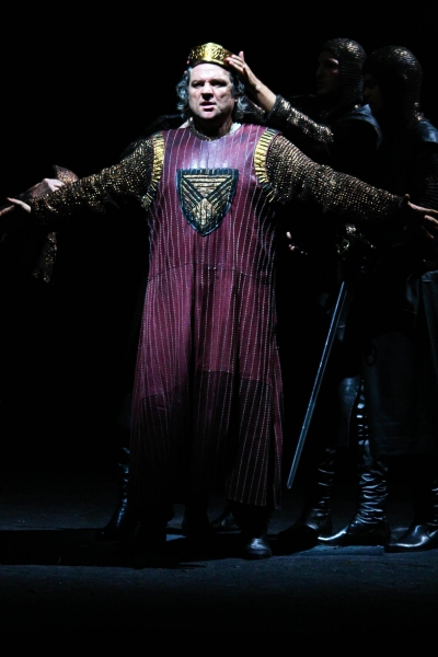 July 30, 2011 - Salzburg, Austria - ZELJKO LUCIC as Macbeth performs during the rehearsal for the Macbeth opera at Salzburg Festival 2011.(Credit Image: © PPS Vienna/ZUMAPRESS.com)