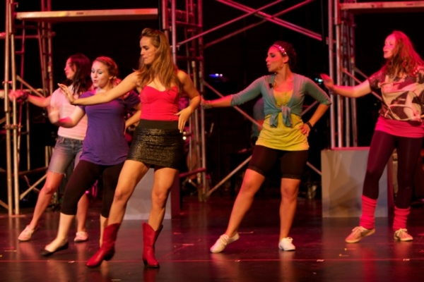 "Brittney Gomez, Katey Sabo as ""Rusty"", Teresa Wittleder as ""Ariel"", Maria Aromando as ""Urleen"" and Rachel Golden"