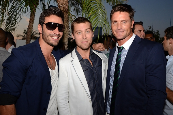 Rodiney Santiago, Lance Bass, Reichen Lehmkuhl. Photo Credit Andrew Werner