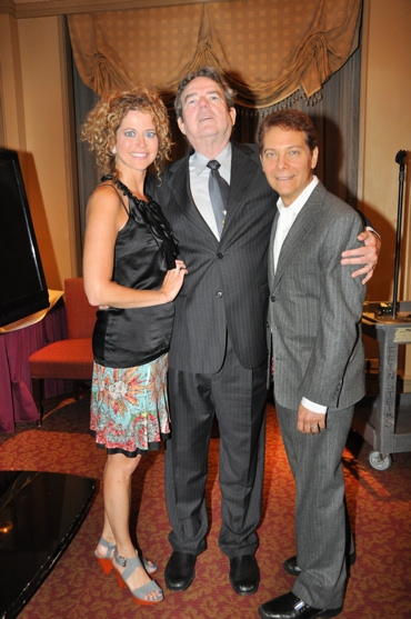 Laura Savini, Jimmy Webb and Michael Feinstein