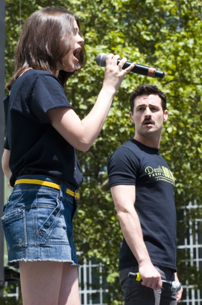 Alexandra Socha & Max Von Essen  at RENT, JERSEY BOYS, and More at Broadway in Bryant Park!