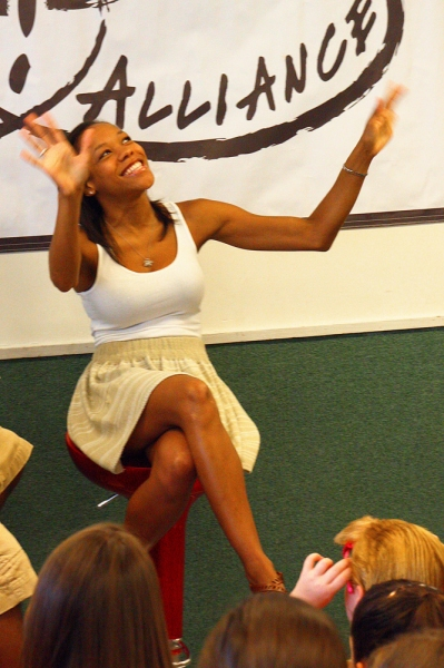 Photo Flash: THE BOOK OF MORMON's Nikki M. James Speaks at Broadway Artists Alliance Workshop!