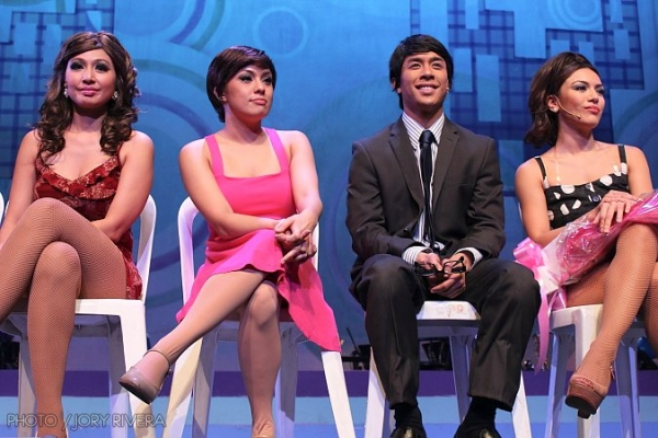 Sheree Vidal, Nikki Gil, Kris Lawrence, Ciara Sotto at SWEET CHARITY Opens in Manila, 8/5-8/27