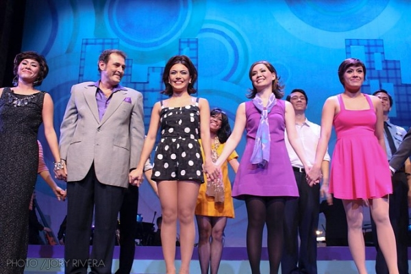 Miguel Faustmann, Ciara Sotto, Sheila Valderrama, Nikki Gil at SWEET CHARITY Opens in Manila, 8/5-8/27