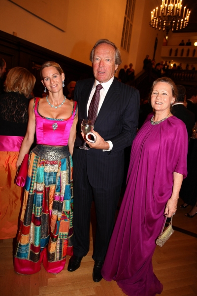 Elisabeth Auersperg-Breunner with Herbert and Uschi Kloiber during arrivals for 'Macbeth' during Salzburg Festival 2011