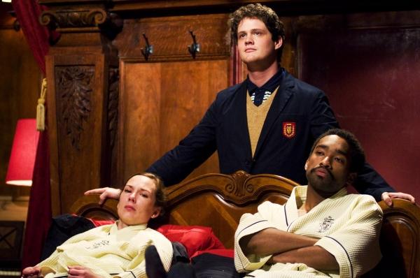 Sarah Lemp as Dr. Sarah Bauer, Nick Lawson as Norman and Jordan Tisdale as Leroy in P Photo