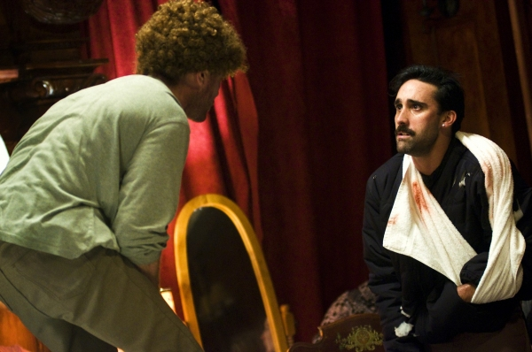 William Apps as Dantly and Matthew Pilieci as Burris in Animals and Plants.