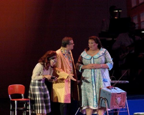 Diana DeGarmo, Drew Carey and Harvey Fierstein Photo