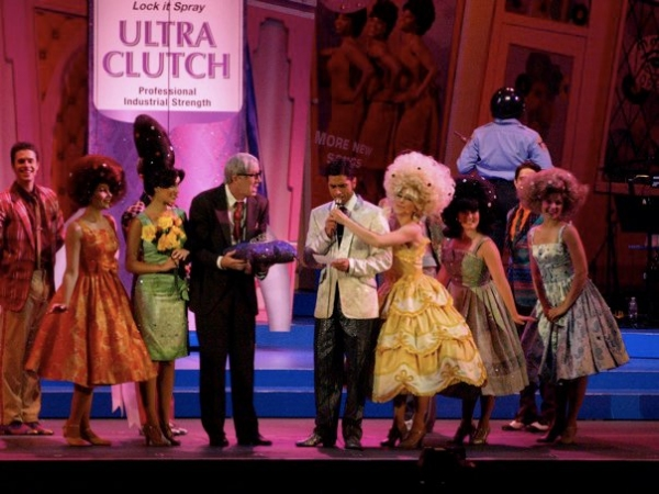 John Stamos, Tara Macri and the cast of HAIRSPRAY at the Hollywood Bowl