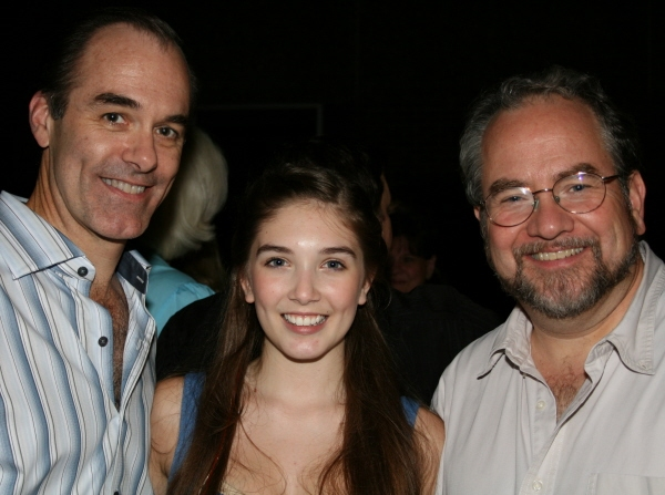 Clay Miller with daughter Isabelle and Rick Sherburne