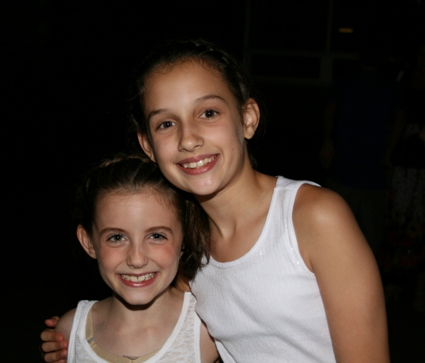 Twin sisters Emma and Lily Schaufus