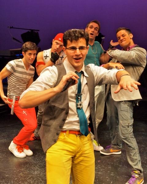 Front: Ian Joseph (Abraham) Behind, l to r: Adam Cassel (Mark), Travis Morin (Luke), Ralph Meitzler (Matthew), Patrick Ortiz (Juan)