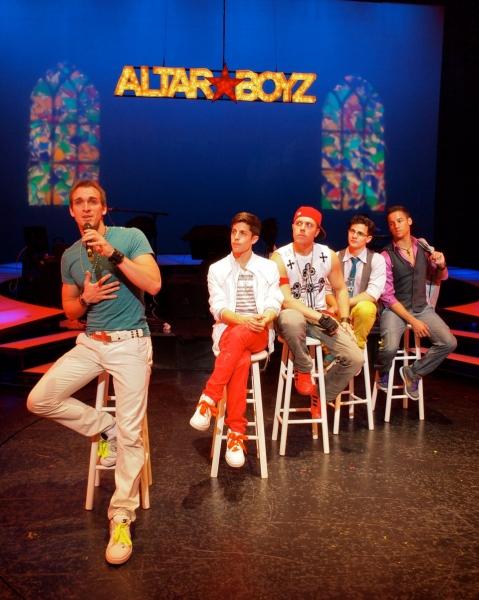Ralph Meitzler (Matthew), Adam Cassel (Mark), Travis Morin (Luke), Ian Joseph (Abraham) and Patrick Ortiz (Juan)