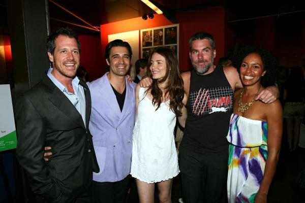 "(L-R) The Cast of ""This"" Darren Pettie, Gilles Marini, Saffron Burrows, Glenn Fitzgerald and Eisa Davis"