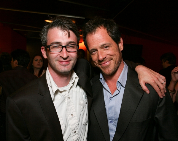 Director Daniel Aukin (L) and cast member Darren Pettie (R) at CTG's THIS - Opening Night!