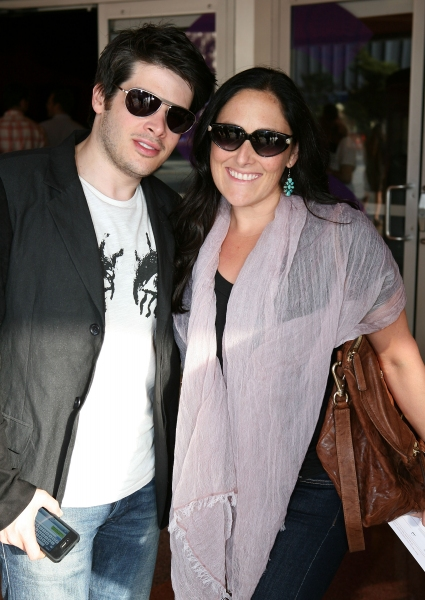 Josh Sabarra (L) and actress Ricki Lake (R)
