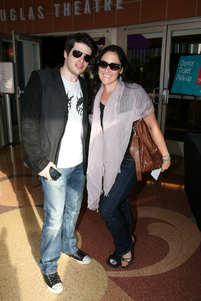 Josh Sabarra (L) and actress Ricki Lake (R)