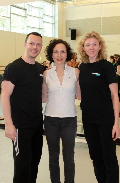 Ben Hartley (Program Founder & Director), Bebe Neuwirth and Karen Speers (UK Coordinator)