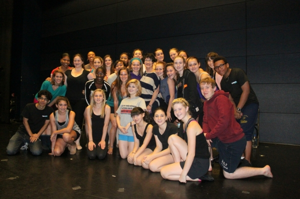 Chita Rivera,  Ben Hartley (Program Founder & Director), Karen Speers (UK Coordinator) and students