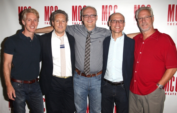 Blake West, Bernard Telsey, Jeff Talbott, William Cantler & Robert Lupone attending the Meet & Greet the Cast for MCC's Premiere Production of 'The Submission' in New York City.