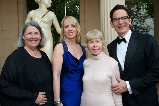(from left) Co-Chairs Darlene Shiley and Sheryl White, honoree Audrey Geisel and Executive Producer Lou Spisto at the 2011 Globe Gala Honoring Audrey Geisel, July 30, 2011. Photo by Carol Sonstein.
