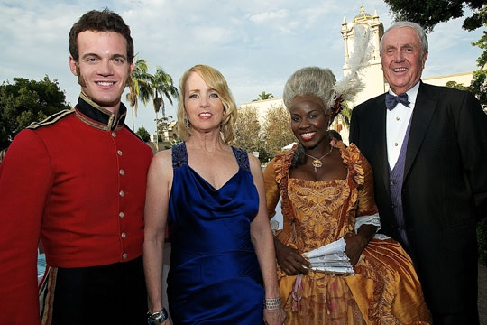 (from left) Ben Diskant, Sheryl White, Shirine Babb and Harvey White at the 2011 Globe Gala Honoring Audrey Geisel, July 30, 2011. Photo by Carol Sonstein.