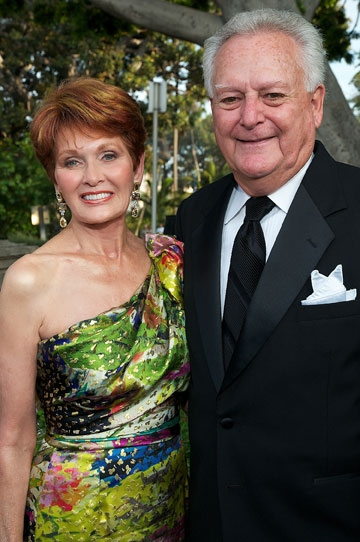 Jo Ann Kilty and Chuck Freebern at the 2011 Globe Gala Honoring Audrey Geisel, July 30, 2011. Photo by Carol Sonstein.