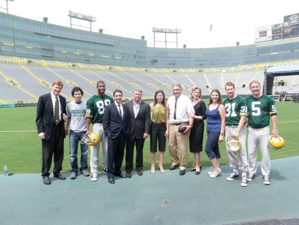 Photo Flash: LOMBARDI Cast Visits Lambeau Field
