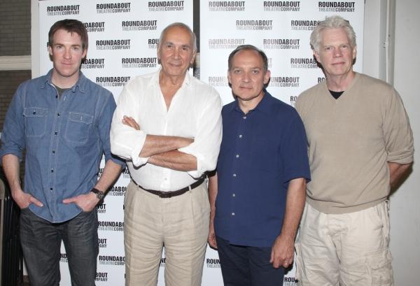 (L-R) Actors Brian Hutchinson, Frank Langella, Zach Grenier, and Michael Siberry
